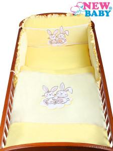 3-dílné ložní povlečení New Baby Bunnies 100/135 žluté