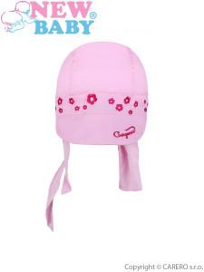 Letní dětská čepička-šátek New Baby Gorgeous světle růžová