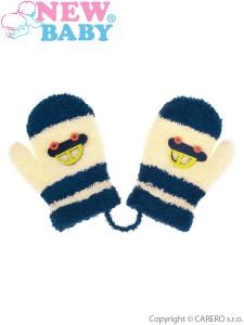 Dětské rukavičky New Baby s autem tmavě modré
