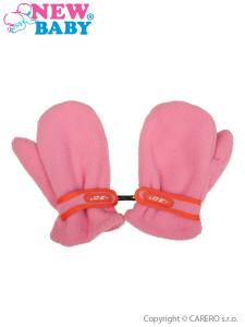Dětské zimní rukavičky New Baby fleecové růžové