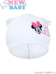 Podzimní dětská čepička New Baby Minnie bílá