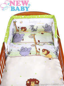 2-dílné ložní povlečení New Baby 100/135 cm zelené safari