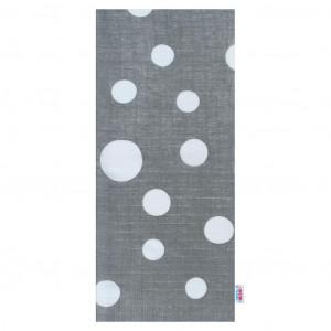 Bavlněná plena s potiskem  New Baby šedá bílé puntíky