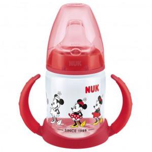 Kojenecká láhev na učení NUK Disney Mickey 150 ml červená