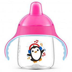 Kouzelný hrneček Avent Premium Pingu 260 ml růžový
