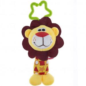 Plyšová hračka s chrastítkem Akuku lev