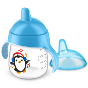 Kouzelný hrneček Avent Premium Pingu 260 ml modrý
