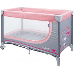 Dětská cestovní postýlka Baby Mix Medvídek pink