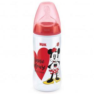 Kojenecká láhev NUK Disney Mickey 300 ml Minnie červená