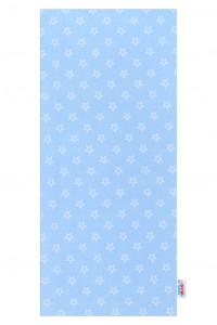 Flanelová plena s potiskem New Baby modrá hvězdičky bílé