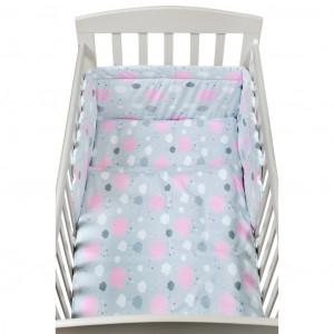 2-dílné ložní povlečení New Baby 90/120 cm obláčky růžové
