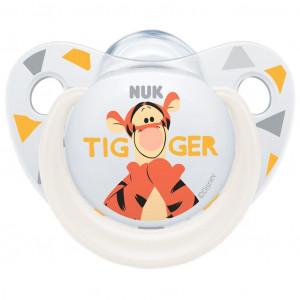 Šidítko NUK Trendline Disney Tigger 6-18m bílé