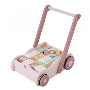 Vozíček s kostkami růžová