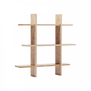 Police na stěnu bambus