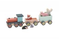 Vlak se zvířátky Edvin dřevěný