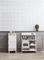 Lednice a mrazák dřevěné Bistro