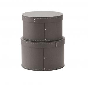Krabice kulatá 2 ks Grey