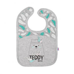 Kojenecký bavlněný bryndáček New Baby Wild Teddy