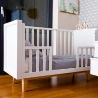 SCANDY dětská postýlka 120x60cm bílá