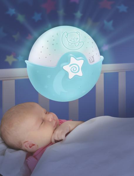 Noční lampička s projekcí modrá