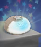 Noční lampička s projekcí ecru
