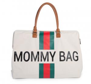 Přebalovací taška Mommy Bag Big Off White / Green Red