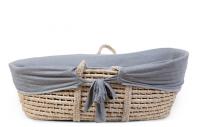 Potah do košíku na miminko Jersey Grey