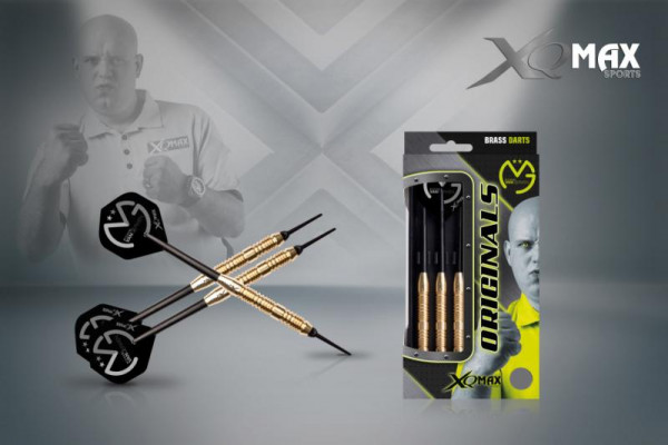Šipky XQ MAX Steel Michael van Gerwen - Originals Brass - 20g