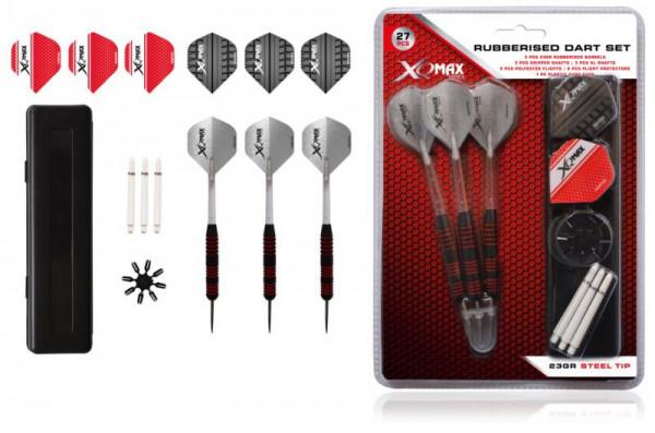 Sada XQMax SET šipky 23g Steel + příslušenství