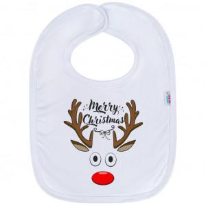 Kojenecký bavlněný bryndák New Baby Merry Christmas