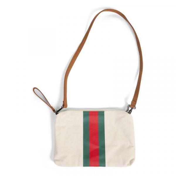 Pouzdro na zip s poutkem Off White Stripes Green/Red