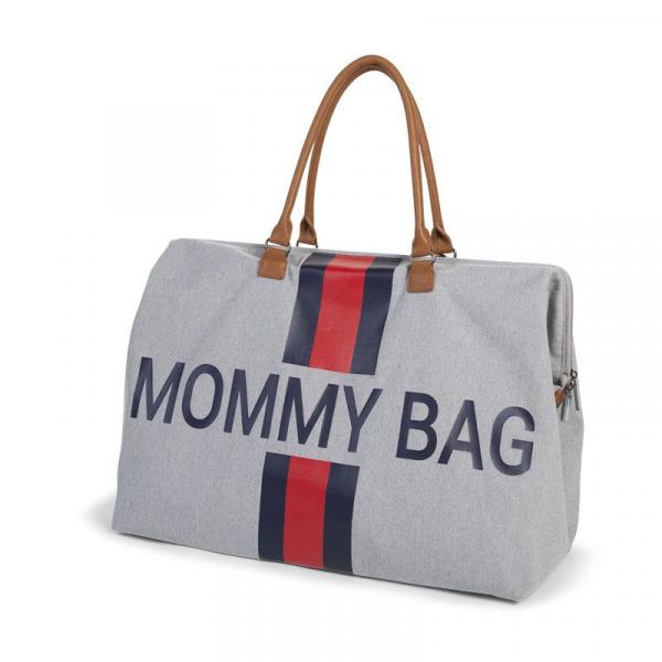 Přebalovací taška Mommy Bag Grey Stripes Red/Blue