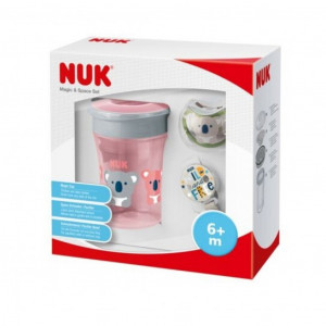 Set NUK Magic Cup Space pro holky růžový 6m+