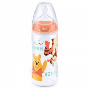 Kojenecká láhev NUK Medvídek Pú 300 ml oranžová tigger