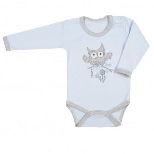 Kojenecké body New Baby Owl modré