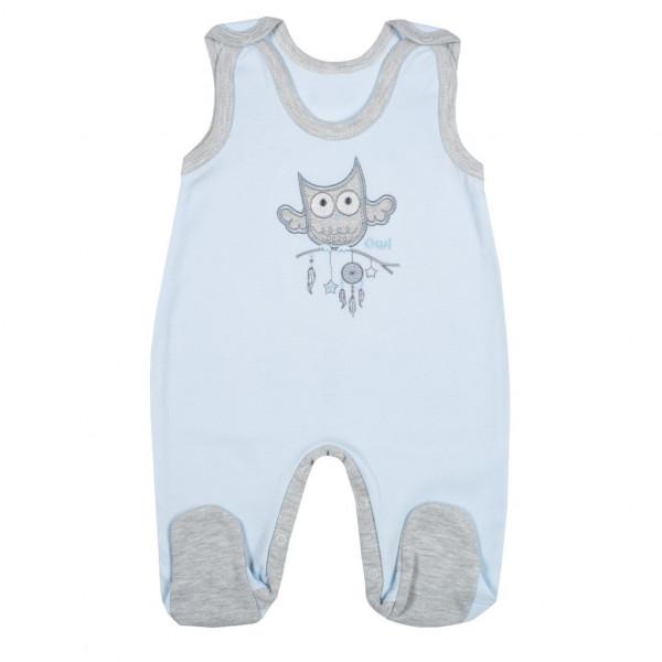 Kojenecké dupačky New Baby Owl modré