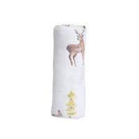 Mušelínová zavinovací plena 120x120cm Oh Deer