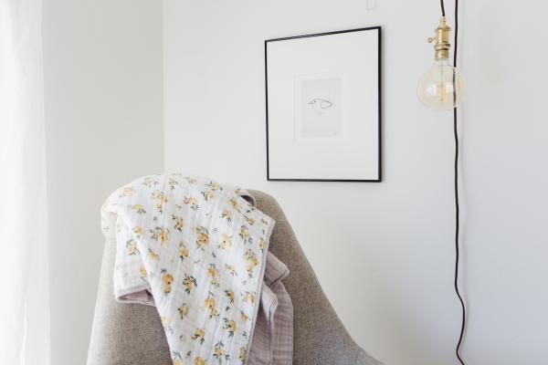 Mušelínová deka 120x120cm Yellow Rose