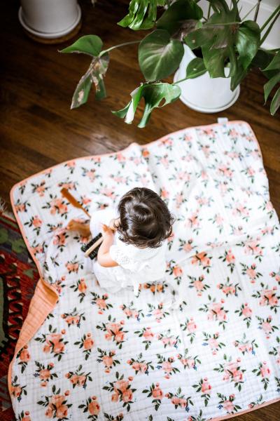 Mušelínová deka 120x120cm Watercolor Roses