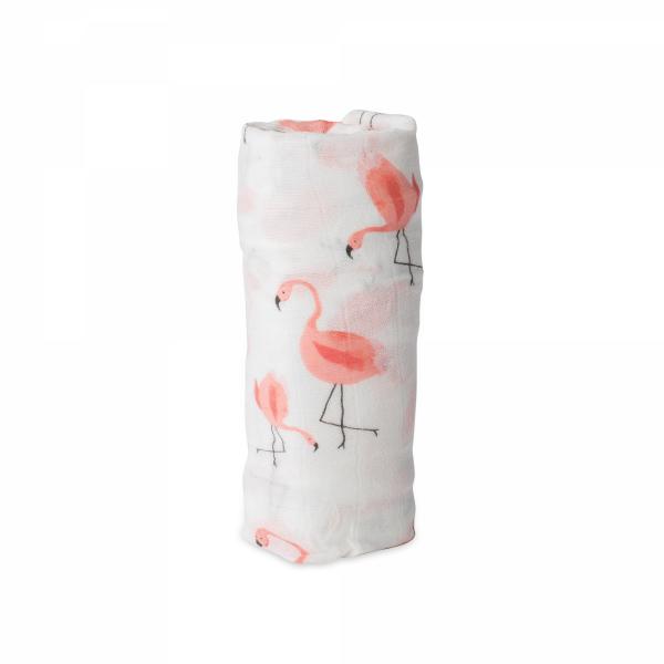 Mušelínová zavinovací plena Deluxe 120x120cm Pink Ladies