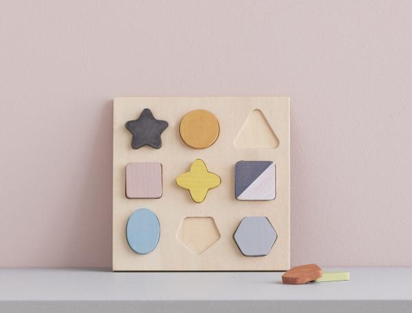 Puzzle dřevěné geometrické tvary