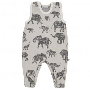 Zimní kojenecké dupačky Baby Service Sloni šedé