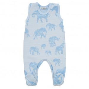 Zimní kojenecké dupačky Baby Service Sloni modré