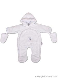 Dětská kombinéza New Baby ježek bílá