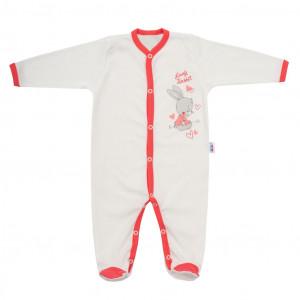 Dětský overal New Baby Lovely Rabbit růžový