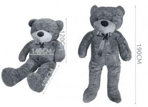 Plyšový medvídek 190 cm - šedý