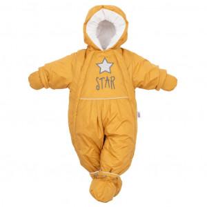 Zimní kombinéza 2v1 New Baby hořčicová