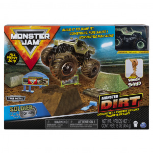 Monster jam sada s tekutým pískem delux