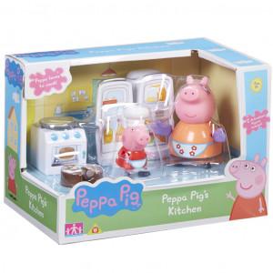 Prasátko Pepa - kuchyňská sada + 2 figurky