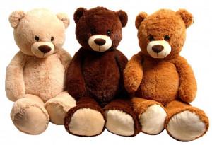 Plyšový medvěd 100 cm tmavě hnědý